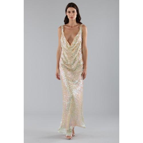 Vendita Abbigliamento Usato FIrmato - Abito in paillettes argento e oro - Alcoolique - Drexcode -5