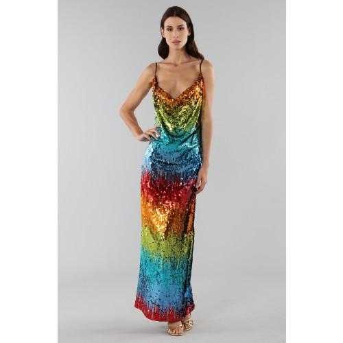 Vendita Abbigliamento Usato FIrmato - Abito in paillettes multicolore - Alcoolique - Drexcode -5