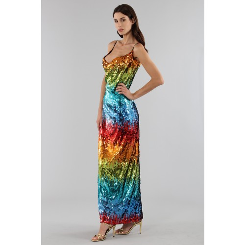 Vendita Abbigliamento Usato FIrmato - Abito in paillettes multicolore - Alcoolique - Drexcode -2