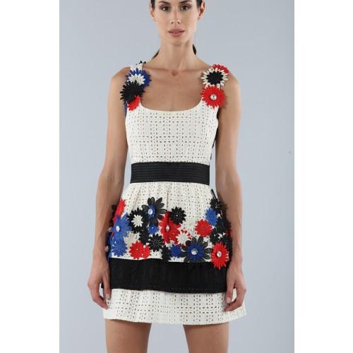 Vendita Abbigliamento Usato FIrmato - Abito ricamato con fiori applicati - Emanuel Ungaro - Drexcode -5