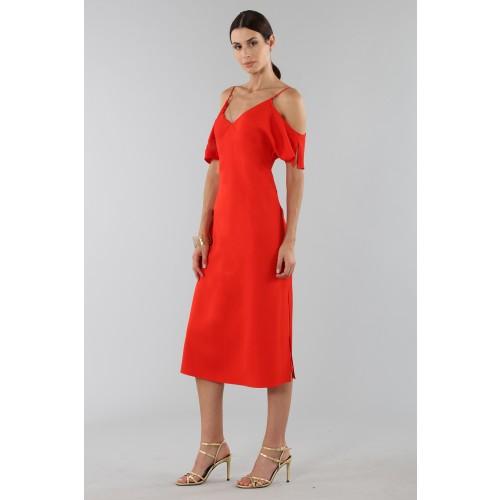 Vendita Abbigliamento Usato FIrmato - Abito rosso off shoulder con catenelle argentate - Alexander Wang - Drexcode -6