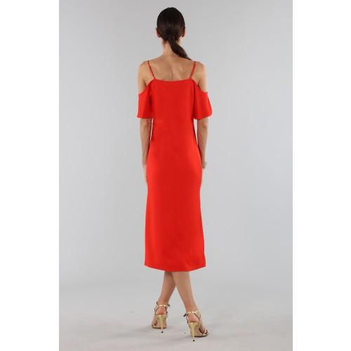 Vendita Abbigliamento Usato FIrmato - Abito rosso off shoulder con catenelle argentate - Alexander Wang - Drexcode -7