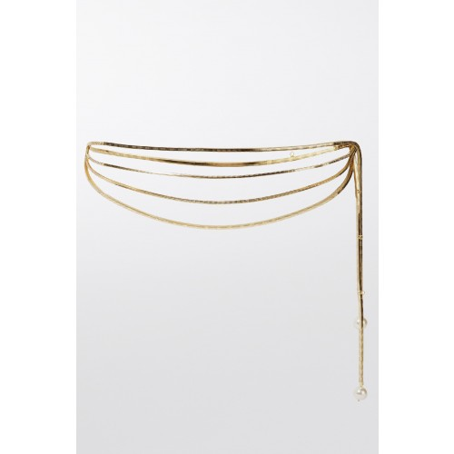 Vendita Abbigliamento Usato FIrmato - Cintura con chiusura perla - Rosantica - Drexcode -2
