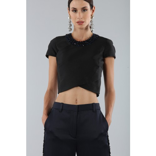 Vendita Abbigliamento Usato FIrmato - Completo con crop top e strass - 3.1 Phillip Lim - Drexcode -2