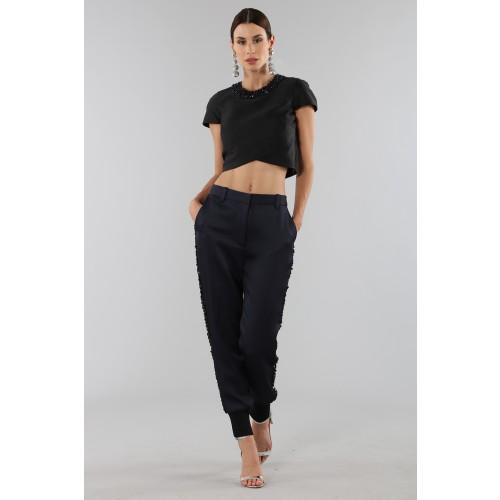 Vendita Abbigliamento Usato FIrmato - Completo con crop top e strass - 3.1 Phillip Lim - Drexcode -3
