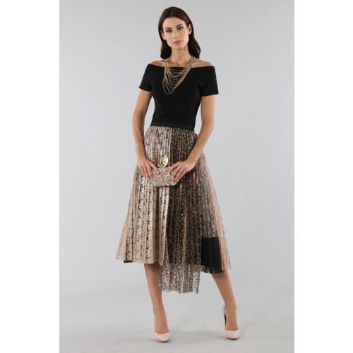 Vendita Abbigliamento Usato FIrmato - Gonna plissè con pannello leopardato - Antonio Marras - Drexcode -3