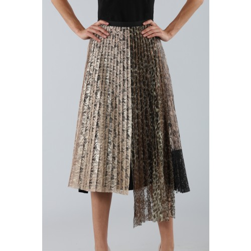 Vendita Abbigliamento Usato FIrmato - Gonna plissè con pannello leopardato - Antonio Marras - Drexcode -5
