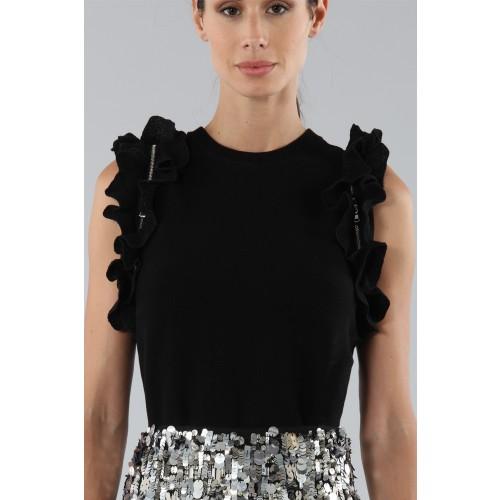 Vendita Abbigliamento Usato FIrmato - Top nero con rouches - 3.1 Phillip Lim - Drexcode -2