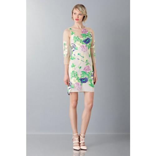 Vendita Abbigliamento Usato FIrmato - VestIto corto con fiori e decori - Blumarine - Drexcode -4