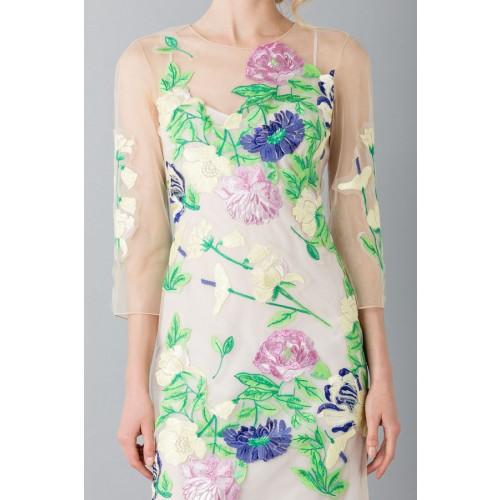 Vendita Abbigliamento Usato FIrmato - VestIto corto con fiori e decori - Blumarine - Drexcode -5