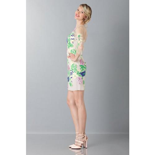 Vendita Abbigliamento Usato FIrmato - VestIto corto con fiori e decori - Blumarine - Drexcode -3