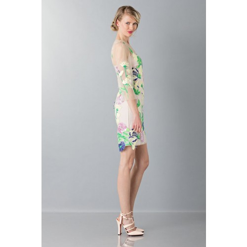 Vendita Abbigliamento Usato FIrmato - VestIto corto con fiori e decori - Blumarine - Drexcode -1