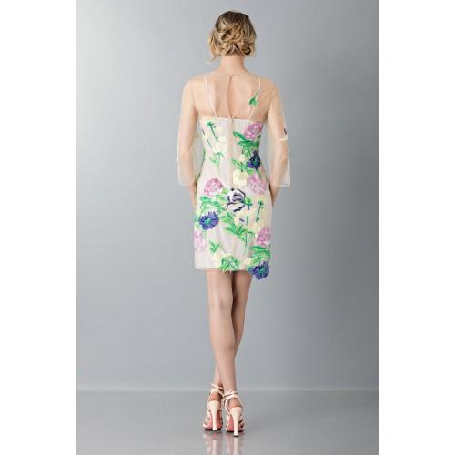 Vendita Abbigliamento Usato FIrmato - VestIto corto con fiori e decori - Blumarine - Drexcode -2