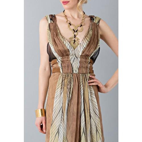Vendita Abbigliamento Usato FIrmato - Abito lungo etnico - Alberta Ferretti - Drexcode -8