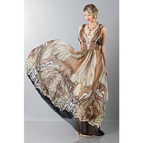 Vendita Abbigliamento Usato FIrmato - Abito lungo etnico - Alberta Ferretti - Drexcode -4