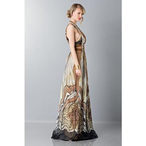 Vendita Abbigliamento Usato FIrmato - Abito lungo etnico - Alberta Ferretti - Drexcode -5