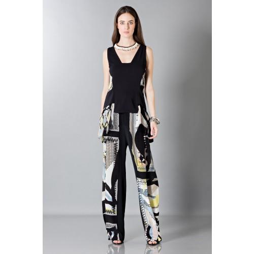 Vendita Abbigliamento Usato FIrmato - Pantalone e top in seta fantasia - Antonio Berardi - Drexcode -2