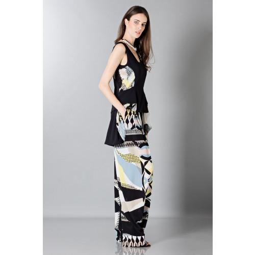 Vendita Abbigliamento Usato FIrmato - Pantalone e top in seta fantasia - Antonio Berardi - Drexcode -3