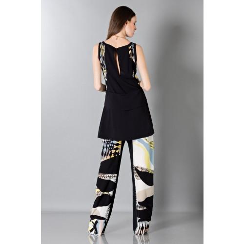 Vendita Abbigliamento Usato FIrmato - Pantalone e top in seta fantasia - Antonio Berardi - Drexcode -5