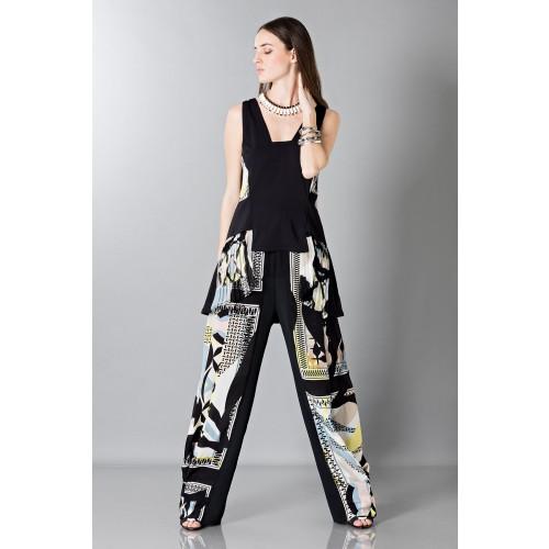 Vendita Abbigliamento Usato FIrmato - Pantalone e top in seta fantasia - Antonio Berardi - Drexcode -6