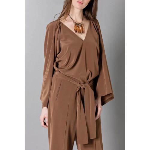 Vendita Abbigliamento Usato FIrmato - Jumpsuit manica lunga-marrone - Albino - Drexcode -10