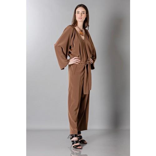 Vendita Abbigliamento Usato FIrmato - Jumpsuit manica lunga-marrone - Albino - Drexcode -9
