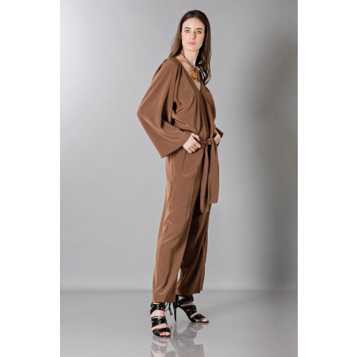 Vendita Abbigliamento Usato FIrmato - Jumpsuit manica lunga-marrone - Albino - Drexcode -11