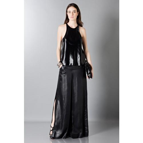 Vendita Abbigliamento Usato FIrmato - Pantalone in pelle - Blumarine - Drexcode -4
