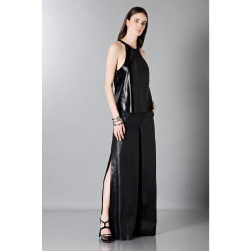 Vendita Abbigliamento Usato FIrmato - Pantalone in pelle - Blumarine - Drexcode -6