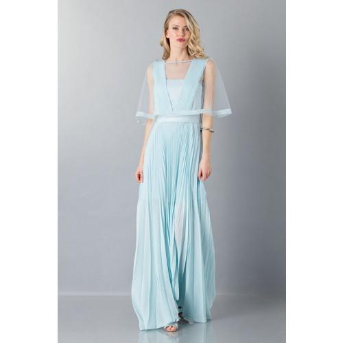 Vendita Abbigliamento Usato FIrmato - Abito da cerimonia celeste - Vionnet - Drexcode -6