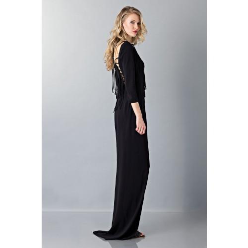 Vendita Abbigliamento Usato FIrmato - Abito lungo nero avvitato - Antonio Berardi - Drexcode -6
