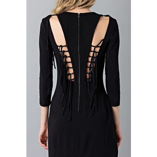 Vendita Abbigliamento Usato FIrmato - Abito lungo nero avvitato - Antonio Berardi - Drexcode -5