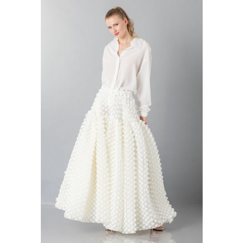 Vendita Abbigliamento Usato FIrmato - Gonna bianca pop-corn - Rochas - Drexcode -4