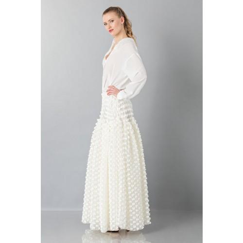 Vendita Abbigliamento Usato FIrmato - Gonna bianca pop-corn - Rochas - Drexcode -2