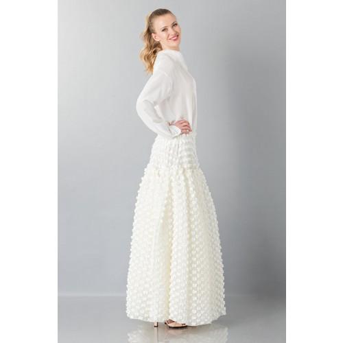 Vendita Abbigliamento Usato FIrmato - Gonna bianca pop-corn - Rochas - Drexcode -1