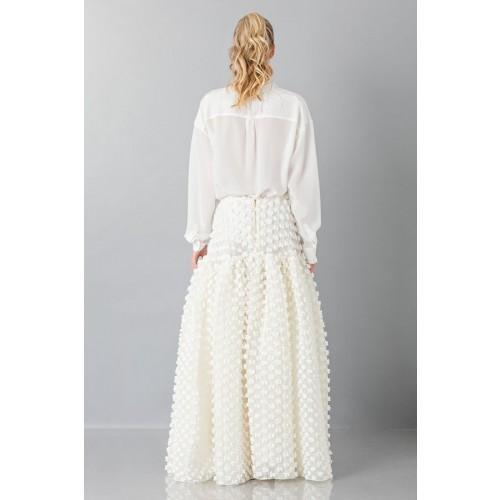 Vendita Abbigliamento Usato FIrmato - Gonna bianca pop-corn - Rochas - Drexcode -3