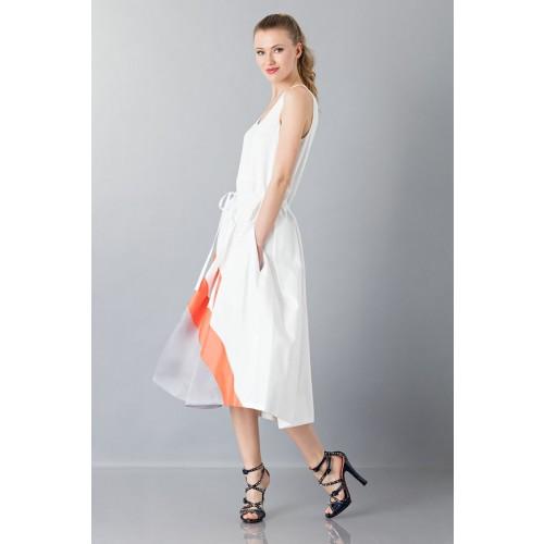Vendita Abbigliamento Usato FIrmato - Abito con gonna a righe multicolor - Albino - Drexcode -4