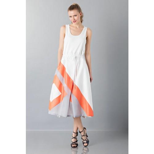 Vendita Abbigliamento Usato FIrmato - Abito con gonna a righe multicolor - Albino - Drexcode -3