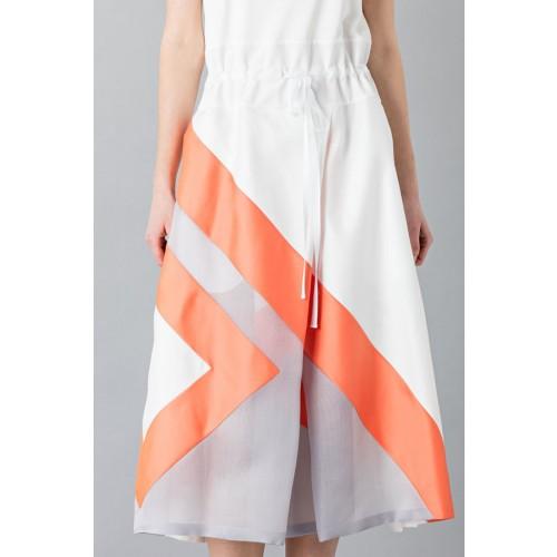 Vendita Abbigliamento Usato FIrmato - Abito con gonna a righe multicolor - Albino - Drexcode -2