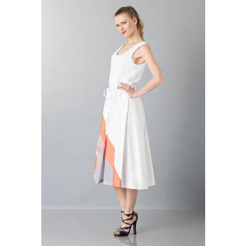 Vendita Abbigliamento Usato FIrmato - Abito con gonna a righe multicolor - Albino - Drexcode -6