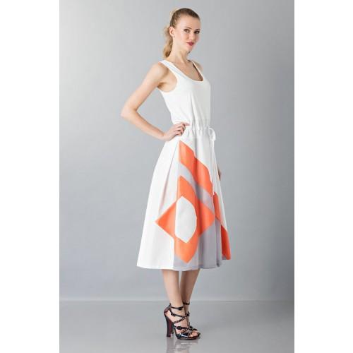 Vendita Abbigliamento Usato FIrmato - Abito con gonna a righe multicolor - Albino - Drexcode -5