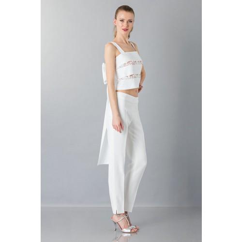 Vendita Abbigliamento Usato FIrmato - Top in pizzo e cotone - Rochas - Drexcode -4