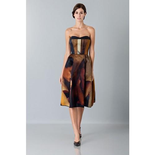 Vendita Abbigliamento Usato FIrmato - Abito bustier con stampa - Giles - Drexcode -9