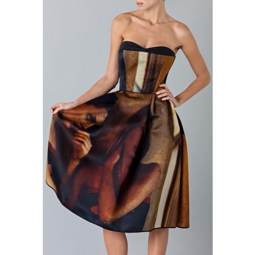 Vendita Abbigliamento Usato FIrmato - Abito bustier con stampa - Giles - Drexcode -4