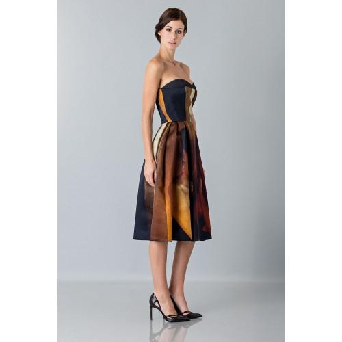 Vendita Abbigliamento Usato FIrmato - Abito bustier con stampa - Giles - Drexcode -6