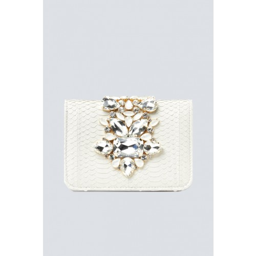Vendita Abbigliamento Usato FIrmato - Clutch panna gioiello - Emanuela Caruso - Drexcode -1