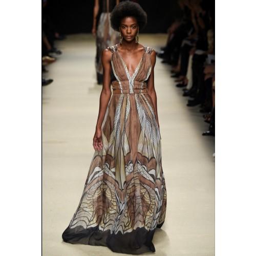 Vendita Abbigliamento Usato FIrmato - Abito lungo etnico - Alberta Ferretti - Drexcode -1