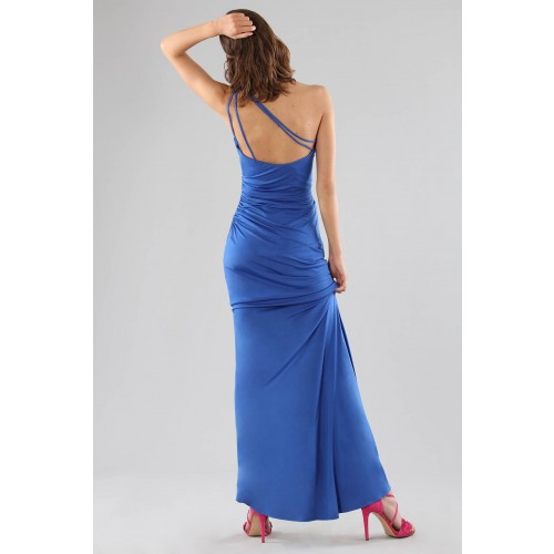 Vendita Abbigliamento Usato FIrmato - Abito blu monospalla con dettagli - Forever unique - Drexcode -9