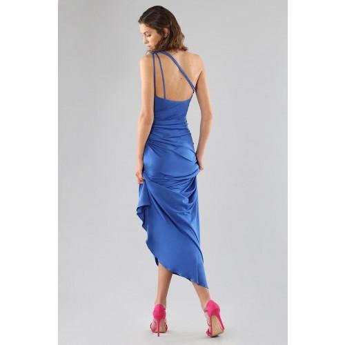 Vendita Abbigliamento Usato FIrmato - Abito blu monospalla con dettagli - Forever unique - Drexcode -8