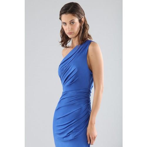 Vendita Abbigliamento Usato FIrmato - Abito blu monospalla con dettagli - Forever unique - Drexcode -11